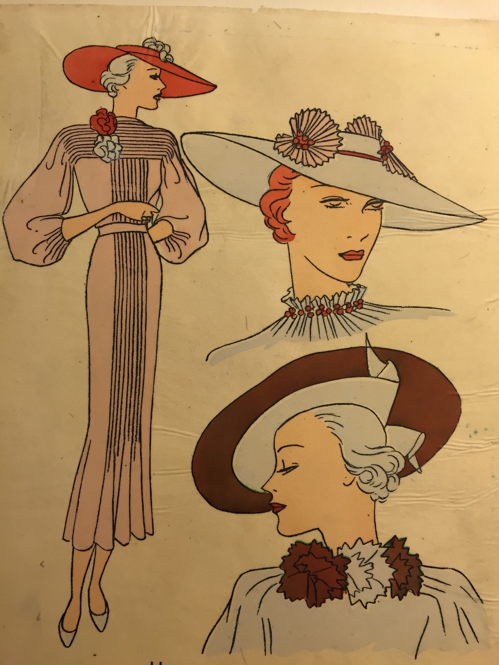Tres Parisien 1935 - they started to add hats to promote their new hat periodical called Les Chapeaux du Tres Parisien.