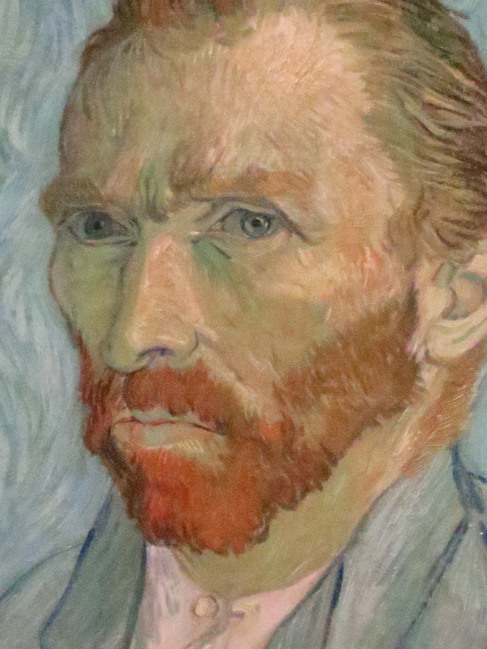 Close up of a Van Gogh self portrait (one of many)