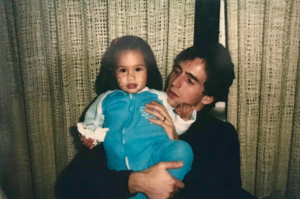 Me with Kim (my first daughter)