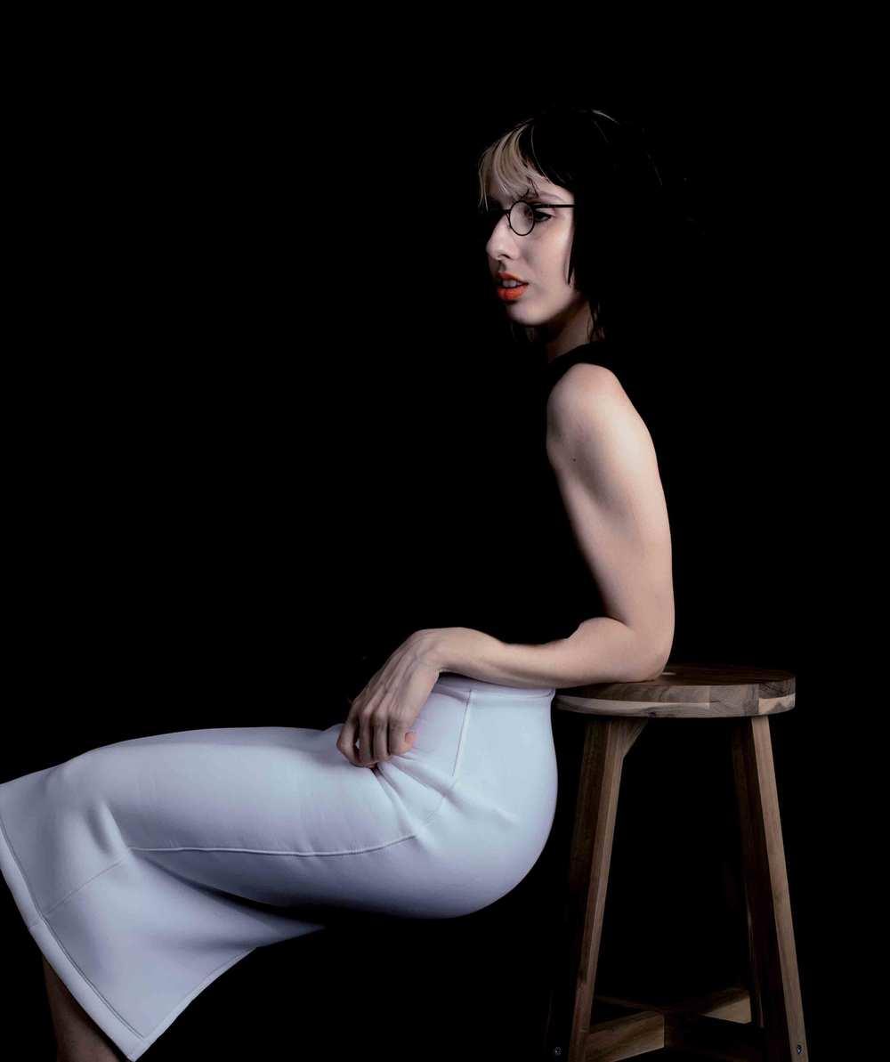 Photo:Andrew Morales Lipstick:MAKE BEAUTY Skirt:Chromat