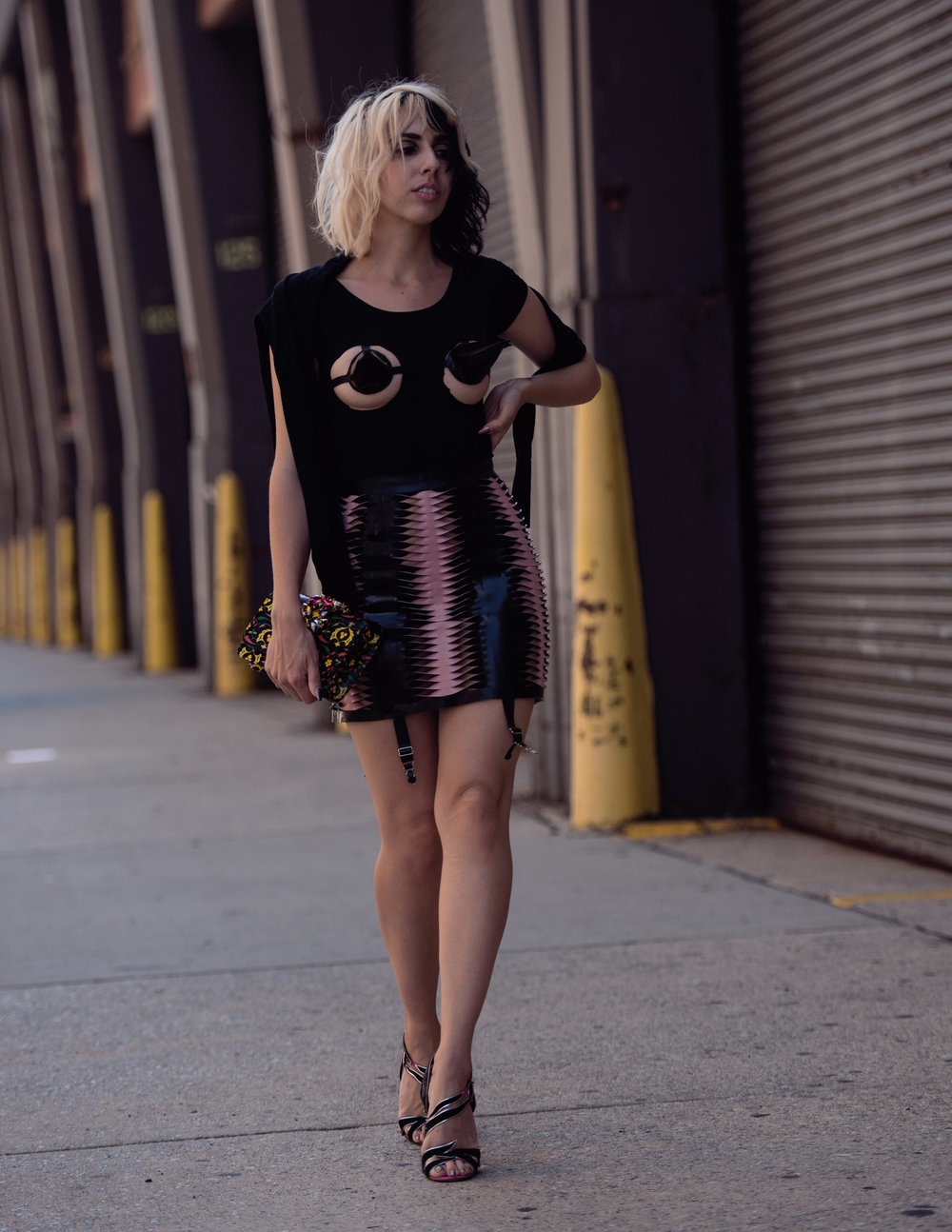 Photo:Andrew Morales Skirt and Cones:Tableaux Vivants Purse:Gedebe