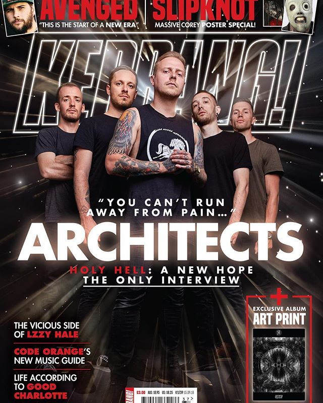 I helped add a little shine to @architects for this weeks @kerrangmagazine_  cover. Photo by @edmasonphoto art direction by @beechinternational . . . #architects #kerrang #kerrangmagazine #architectsuk #retouch