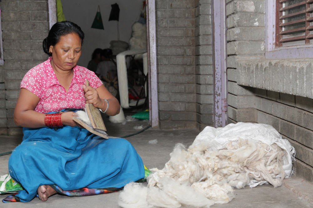 2. Cording of the Wool.JPG