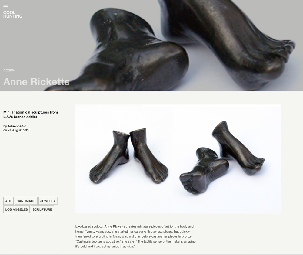 Miniature Sculptures – Bronze Foot Sculpture