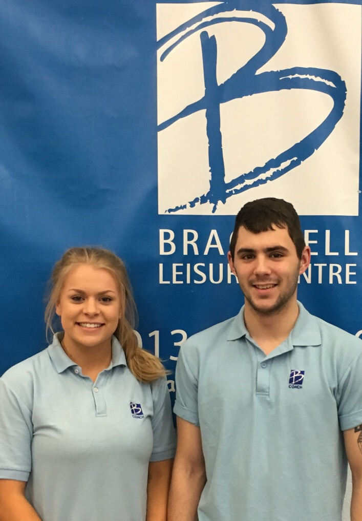 Katie Potts & James Langley (Level 2 TeamGym Coaches).