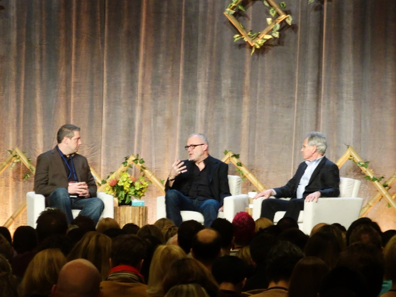 (L to R): Congressman Tim Ryan, CEO of Aetna, Mark Bertolini, and Jon Kabat-Zinn, founder of MBSR - mindfulness-based stress reduction.