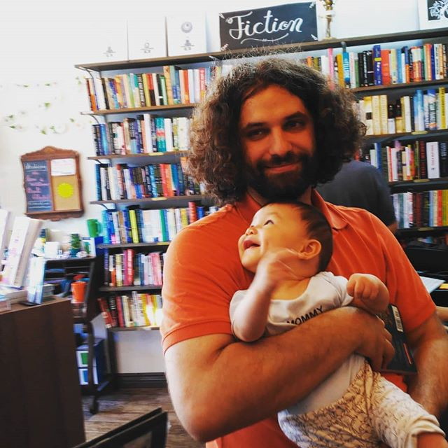Jonathan loves his first bookstore. He also loves ceiling fans. Visit Kew & Willow books in Kew Gardens! What a cute place.
