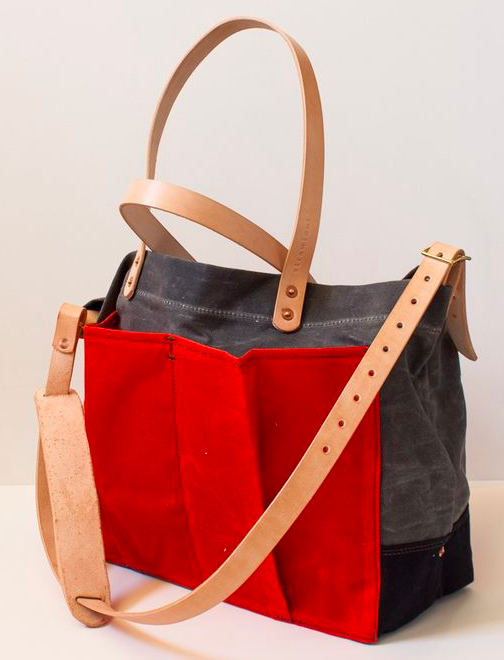 Strawfoot : Example of Wax Canvas Diaper Bag $298