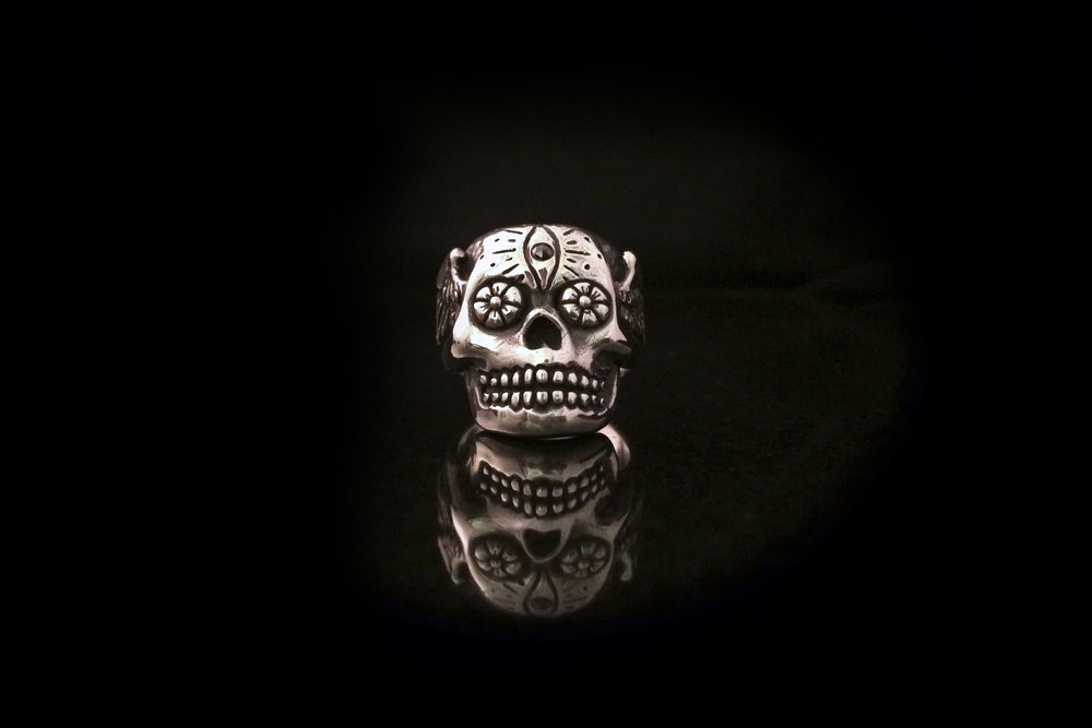 sterling flower eye skull ring.jpg