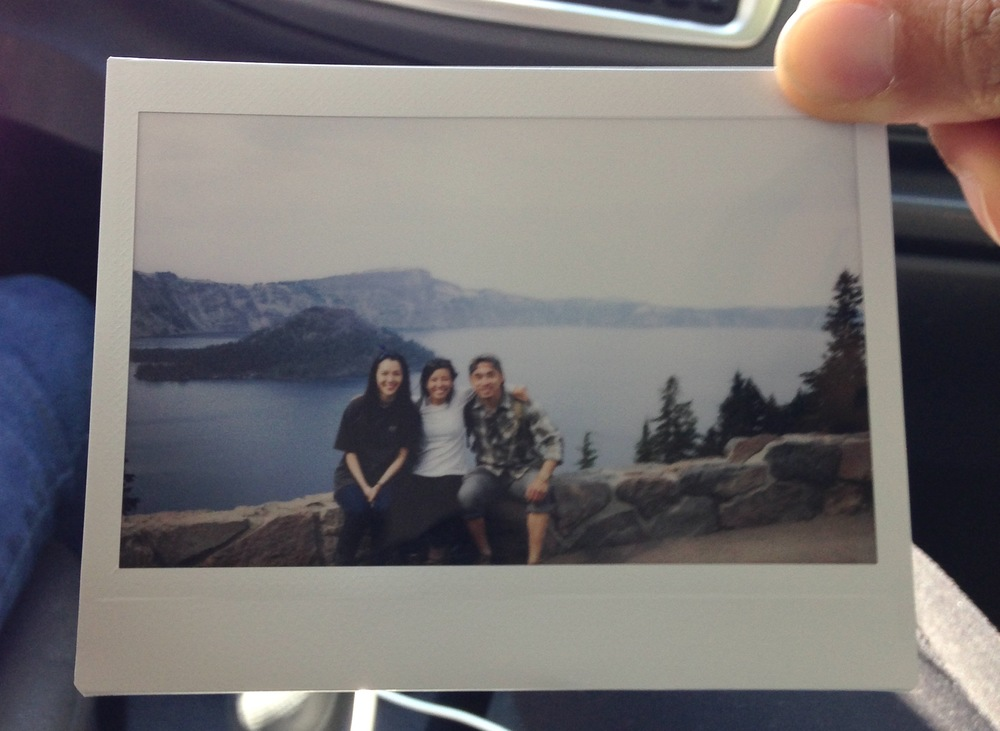 Alyson, Mai-Thi and me at Crater Lake