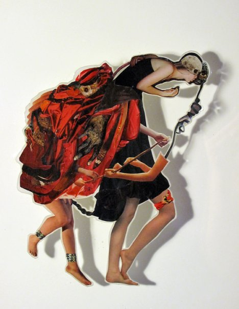 A Heavy Heart , 2009, Photographs and found images cast in plastic resin, 16 X 20""