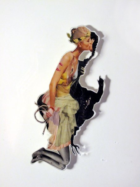 Stain,  2009, Photographs and found images cast in plastic resin 16 X 20""