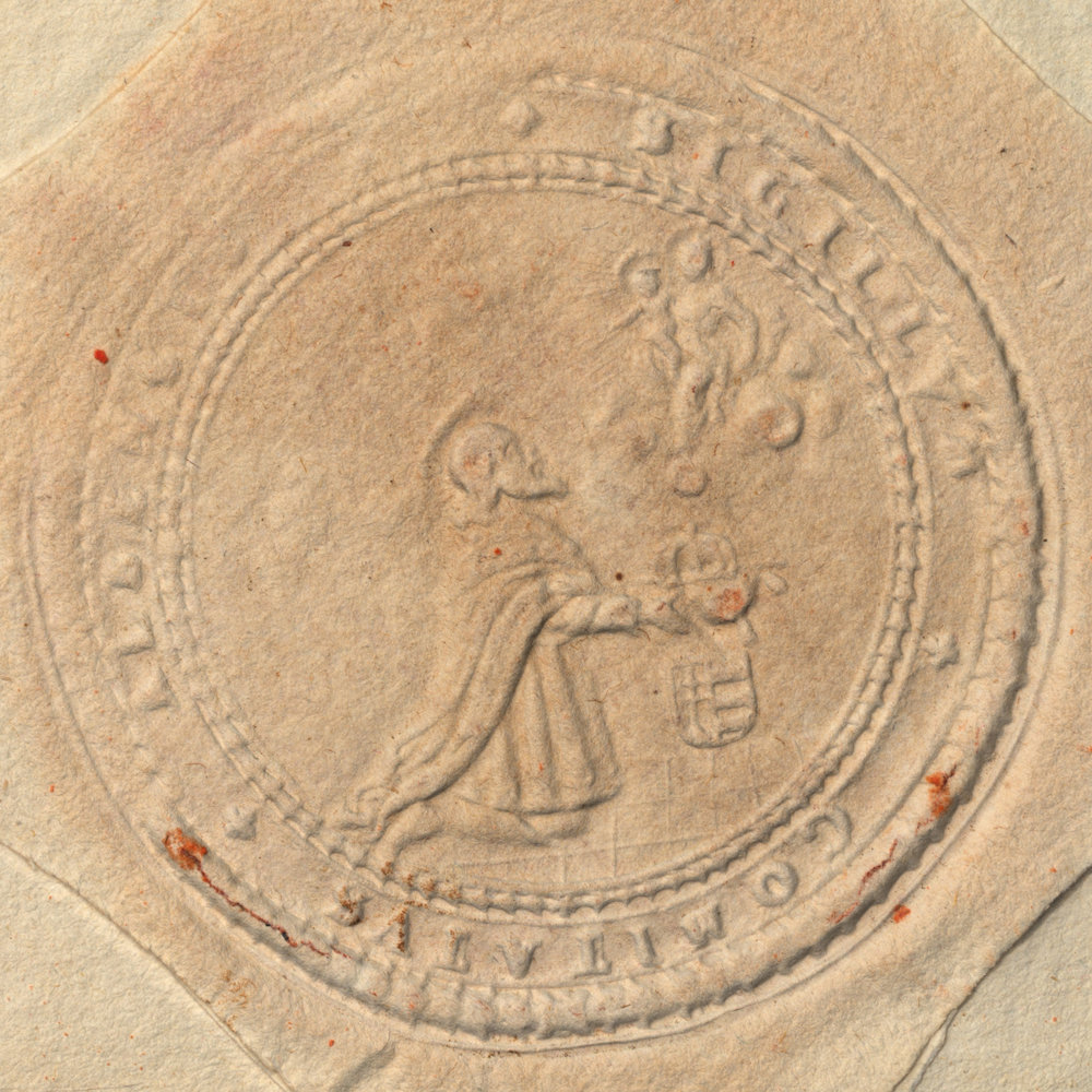Copy of Hungarian Letter, detail of seal using RTI