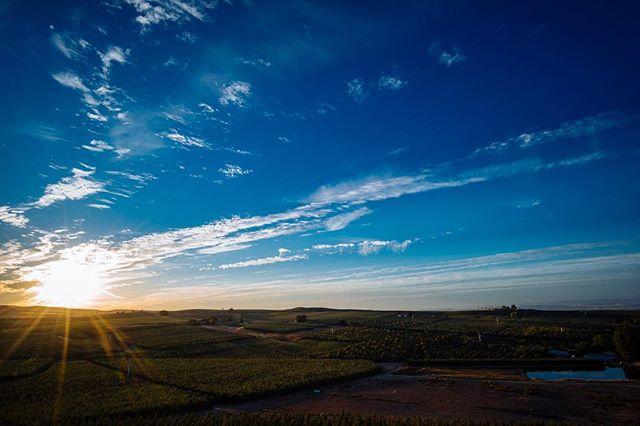 Sunrise above the farm Yakima Valley, WA