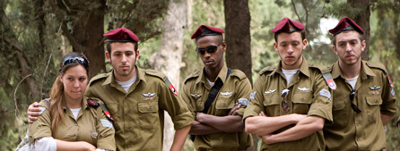 Photo of Israeli soldiers taken by Heather's friend Brian Mosoff, http://brianmosoff.com