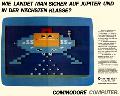 German ad for Commodore VC20