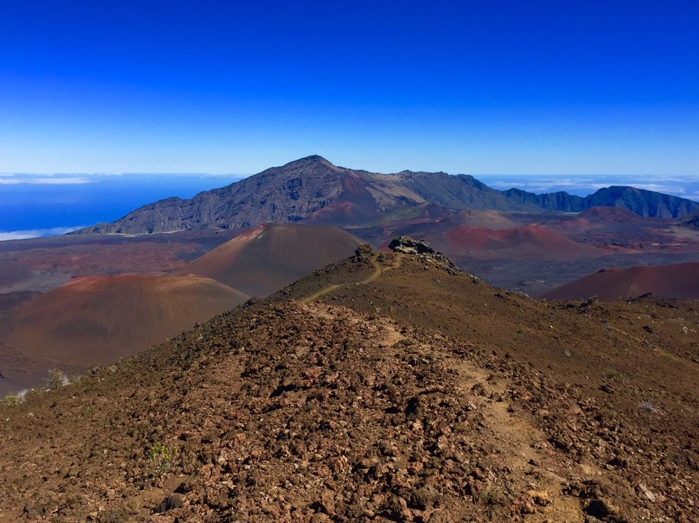 Near the beginning of the Haleakala Trail.