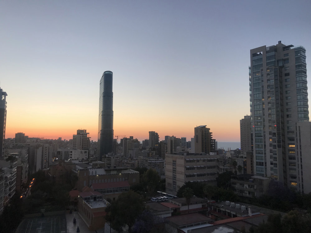 Beirut sunset