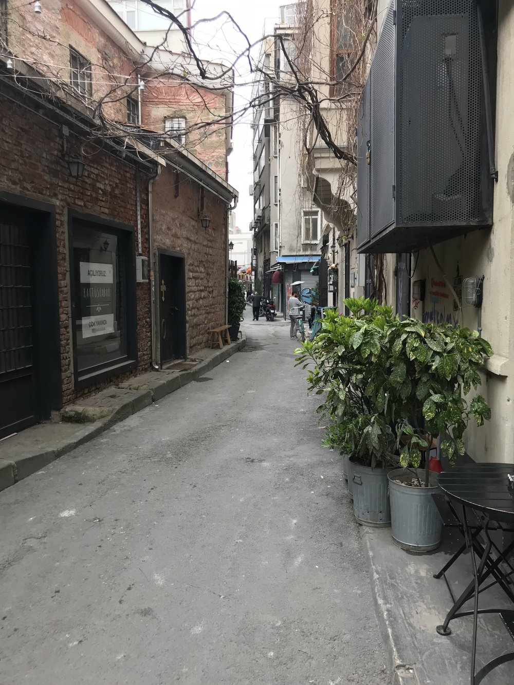 A neat little street near the place we stayed in Istanbul