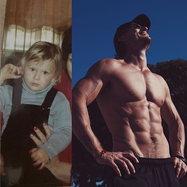 Transformation Tuesday! Wow look at the difference! 🤔🤦‍♂️😂 Don't be fooled by all of the miraculous makeovers you see out there guys and girls, there is no 'quick fix', there's no magic formula it's all as Arnie says, SETS AND REPS... 🏋🏼 Training, just like life, is all sets and reps. It's A LOT of repetition. Did I do some magic program to get to where I am? No. You know what I did? I trained hard, and consistently for over 15 years! You've gotta stick with it people, it's a lifestyle decision to be fit and healthy-it's something you want to be doing forever, not just for 12 weeks 😉 Stay golden pony boy 💁‍♂️😂 #transformationtuesday #legit #2legit2quit  #dontbefooled #bitthatisactuallyme