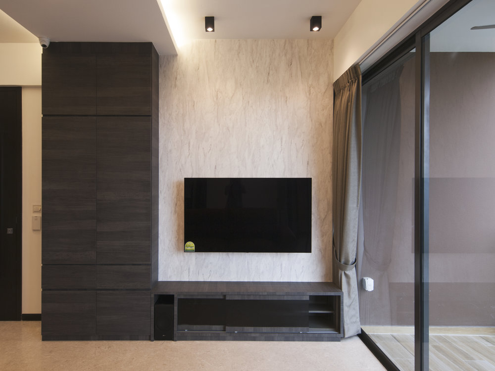 Shoe cabinet and TV console combo.