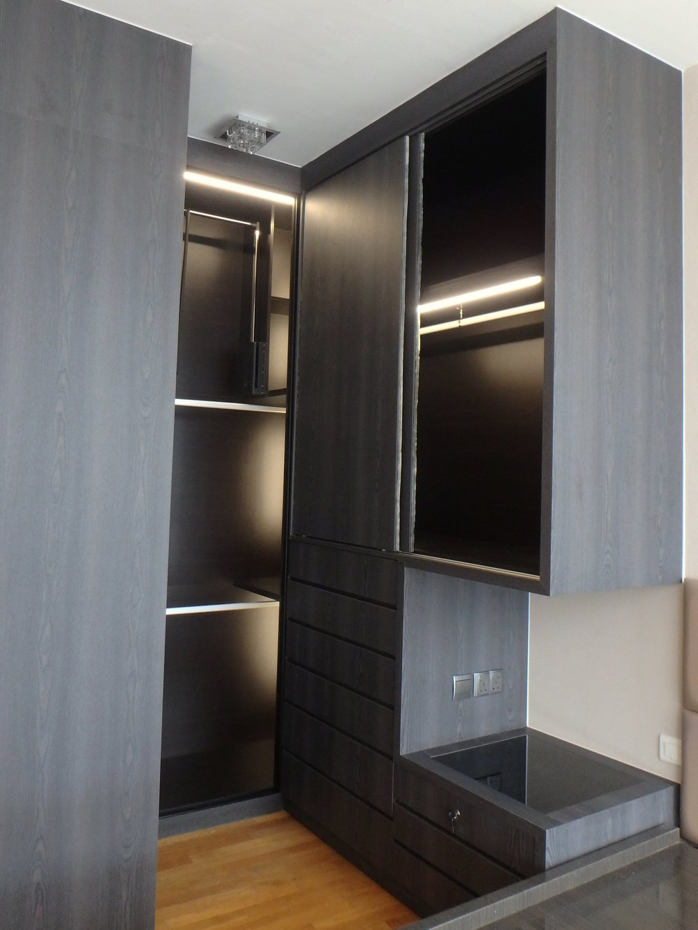Re-designing 2 bedrooms with ample wardrobe space for  HIM  and for  HER .