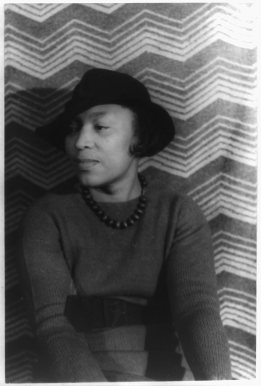Portrait of Zora Neale Hurston by Carl Van Vechten, 3 April 1938, via Library of Congress.