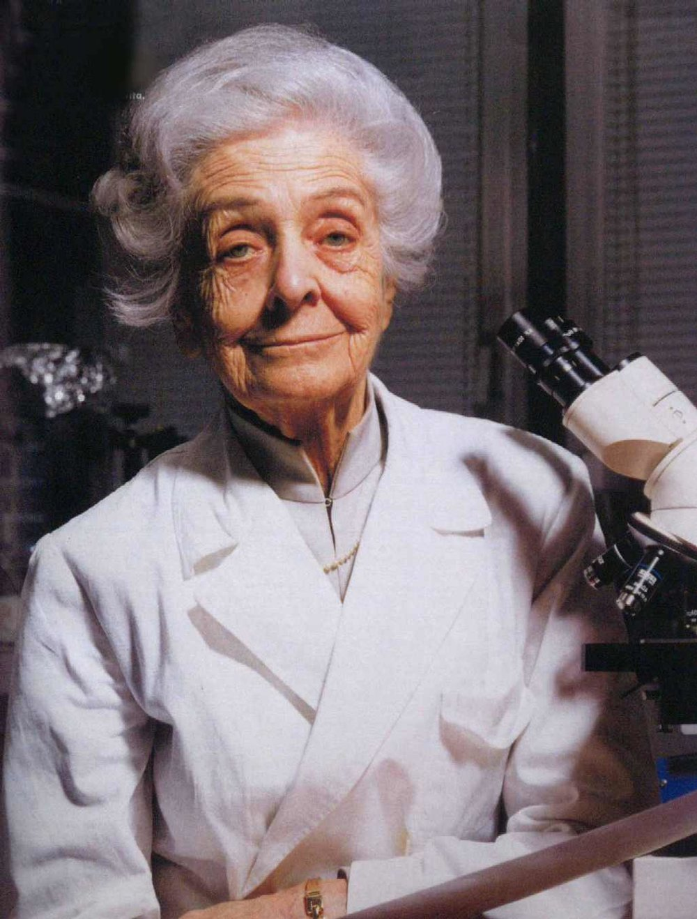 Portrait of Rita Levi-Montalcini courtesy of the European Brain Research Institute.
