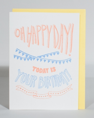 Happy Birthday A6 Card - $5.50