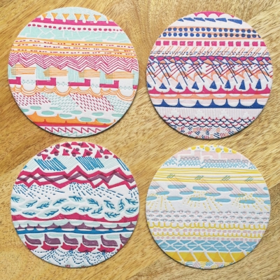 Letterpress Printed Coasters, set of 8 - $20