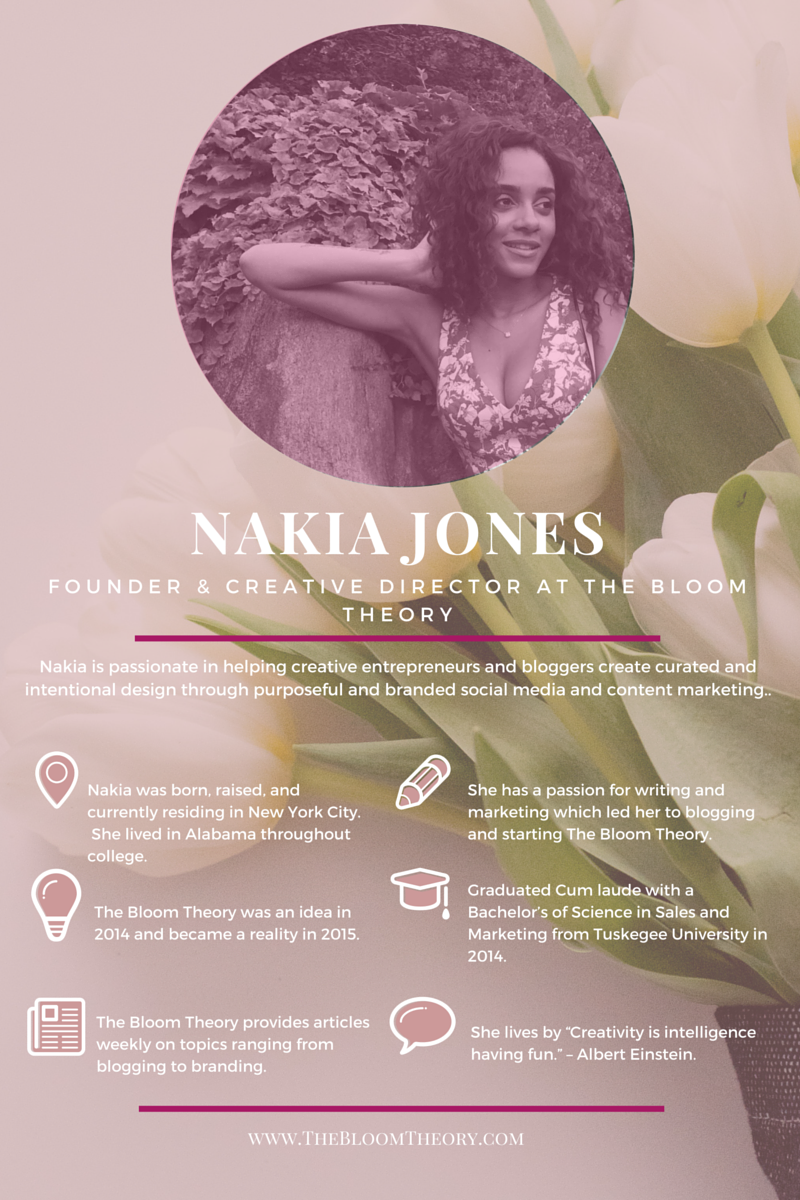The Bloom Theory - Nakia Jones About Infographic