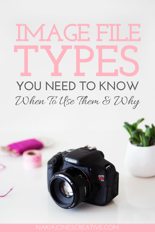 Image File Types You Need To Know - When To Use Them & Why - Nakia Jones Creative BY NAKIA JONES