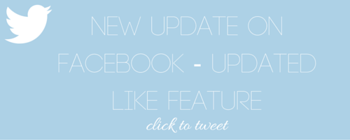 New Update On Facebook - Updated Like Feature - Nakia Jones Creative by Nakia Jones - Click to tweet