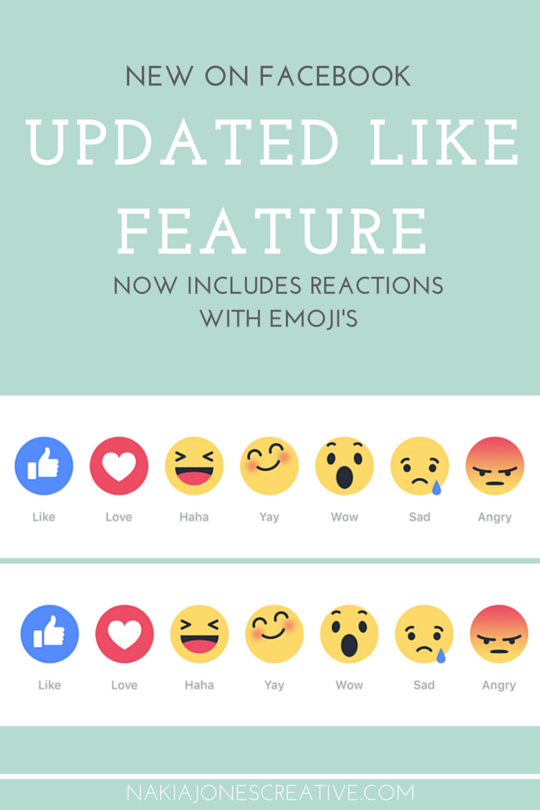New Update on Facebook - Updated Like Feature by Nakia Jones Creative by Nakia Jones