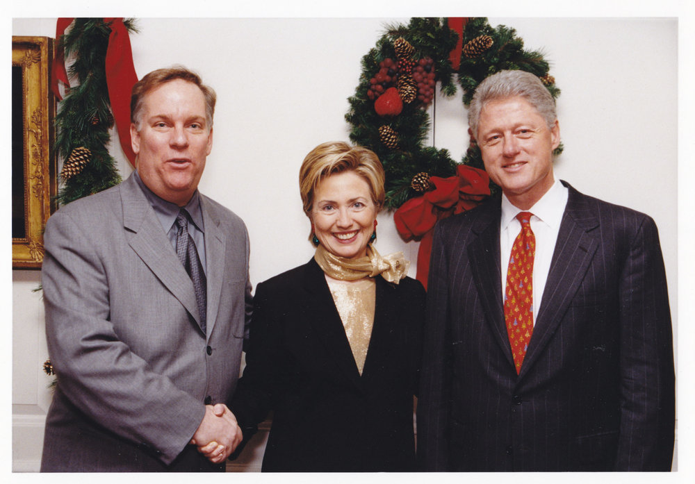 Thomas Pedersen with First Lady Hillary Clinton and President Bill Clinton (December, 2000)