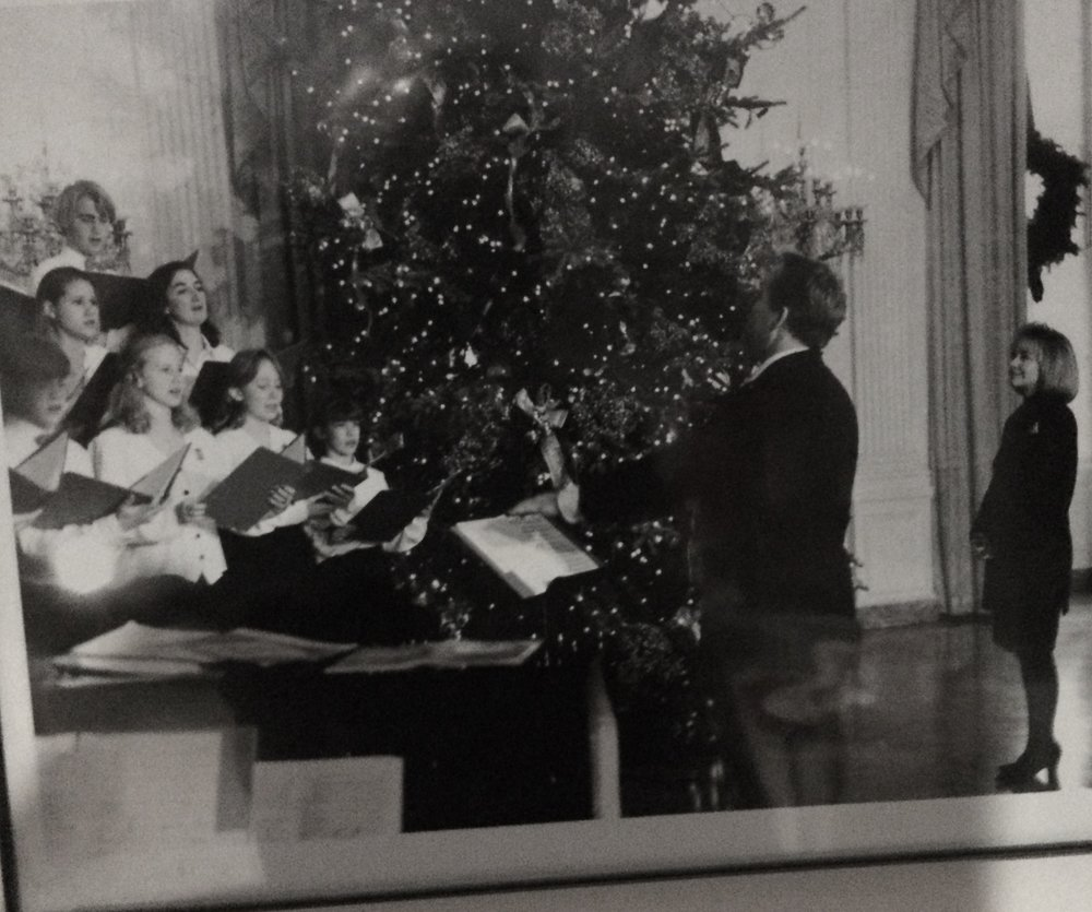 N. Thomas Pedersen conducts the childrens' choir at Christmas At The White House in December 1993.