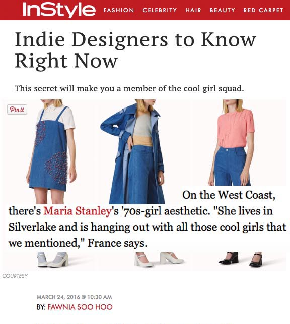 Indie designers to know right now by  INSTYLE.COM