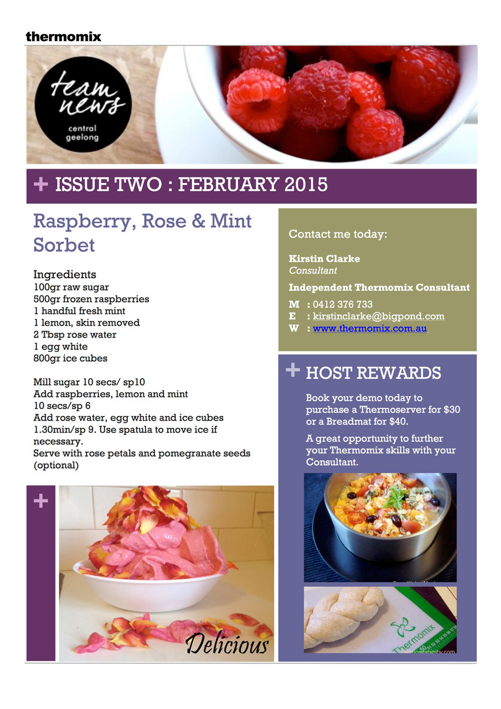 Thermomix Monthly Newsletter