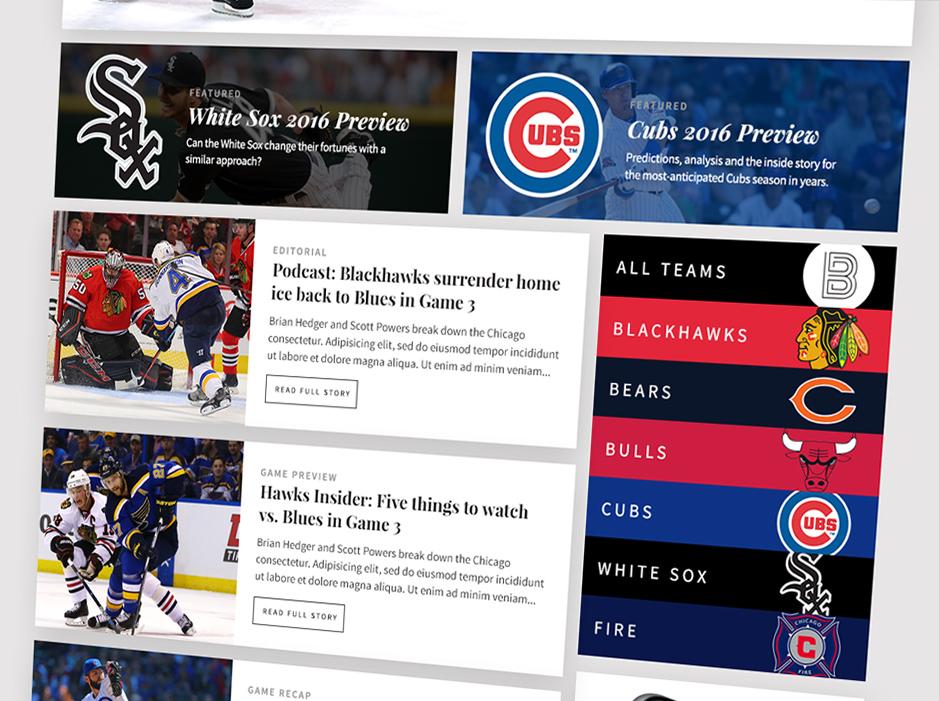Brushback Sports website by Jacob Stone Design