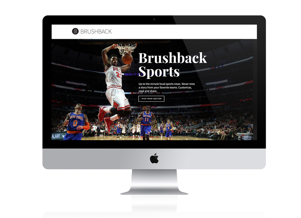 Brushback Sports Startup Website by Jacob Stone Design