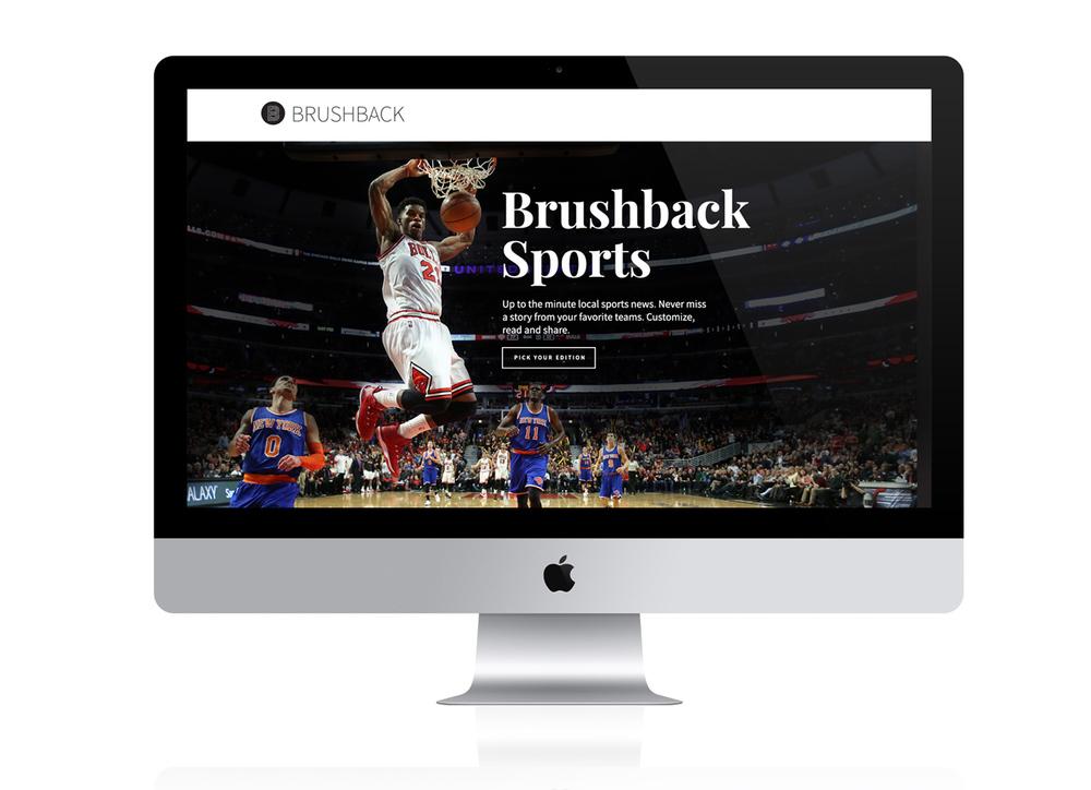 Brushback Sports Startup Website by Jacob Stone Design