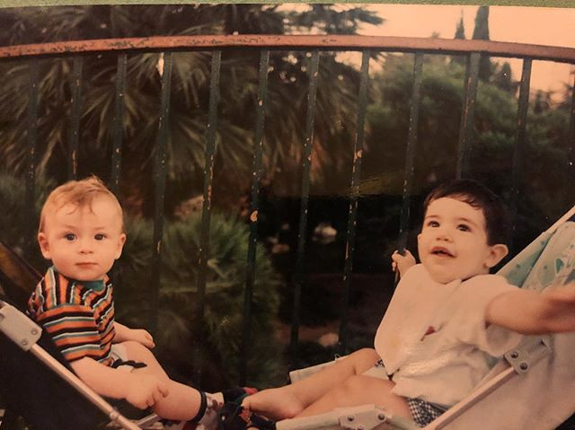 Me and my Italian cousin @simonequarto in around 1996 #wayback