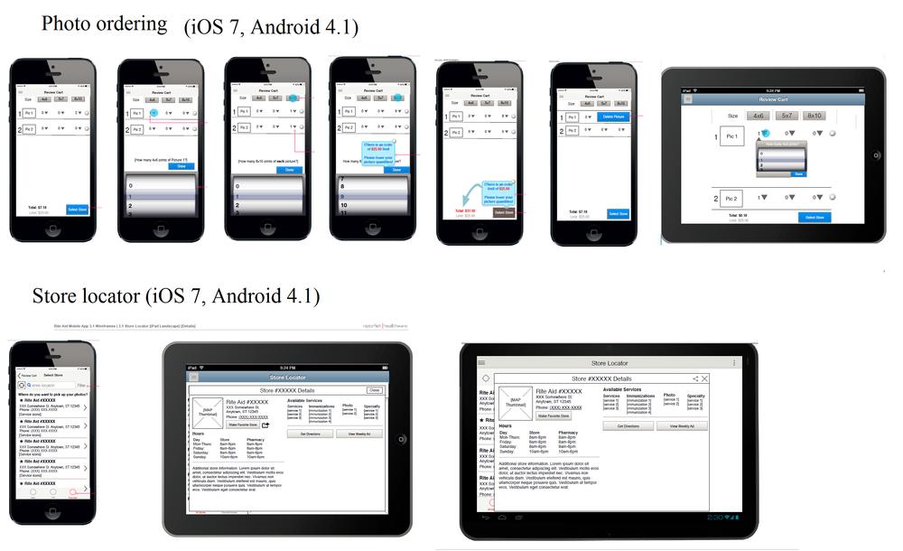 Wireframes - Rite-Aid Mobile App UI Update