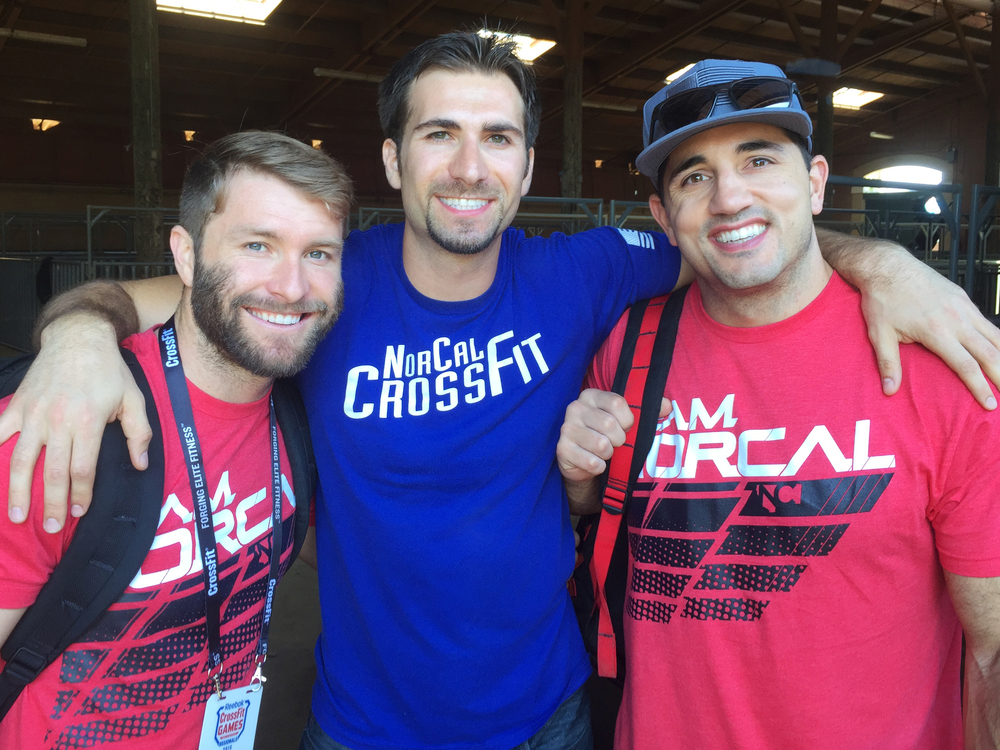 Pat Barber, Dr. Karo Isajan, and Jason Khalipa at the Crossfit Games California Regionals.