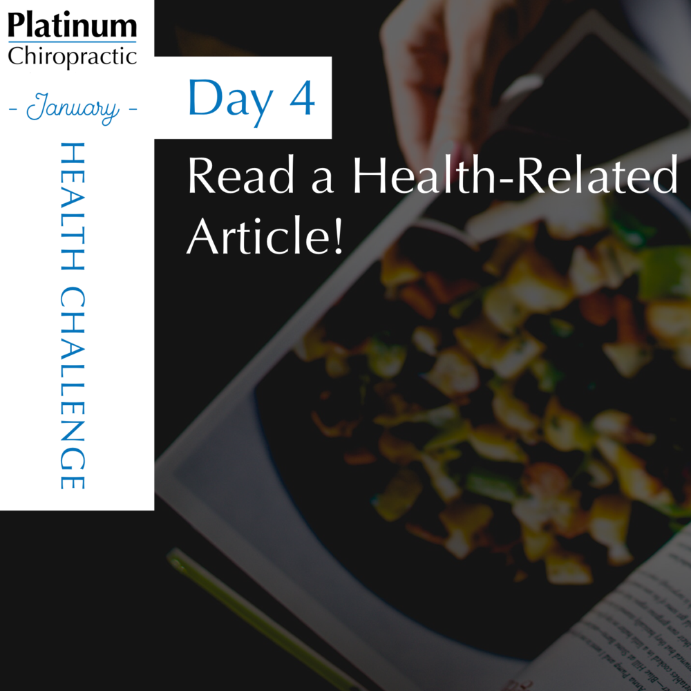 Day 4 of our Patient Appreciation Challenge, Read a health-related article.