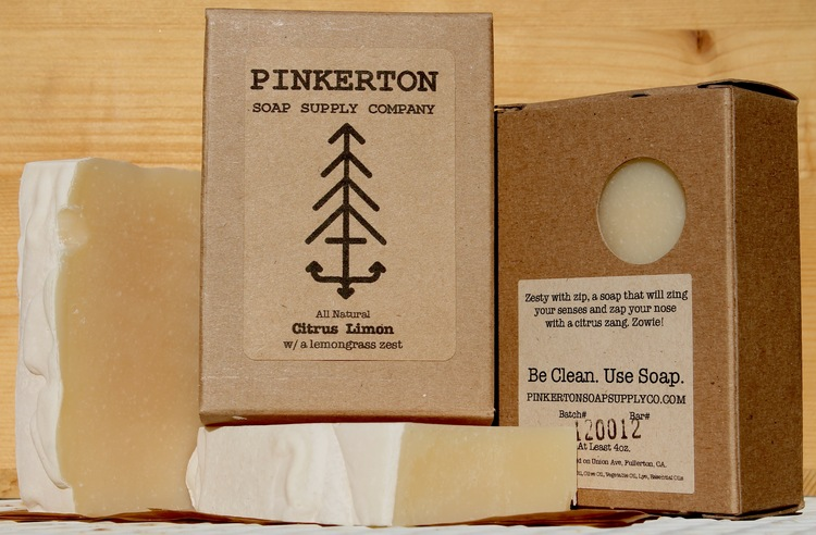 Seasonal Citrus Limon soap.