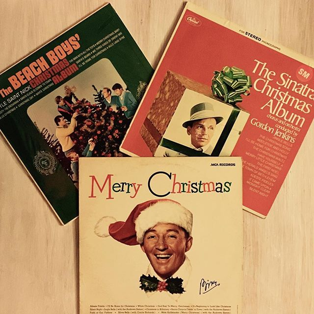 Getting in the Christmas mood with The Beach Boys, Bing, and Frank.