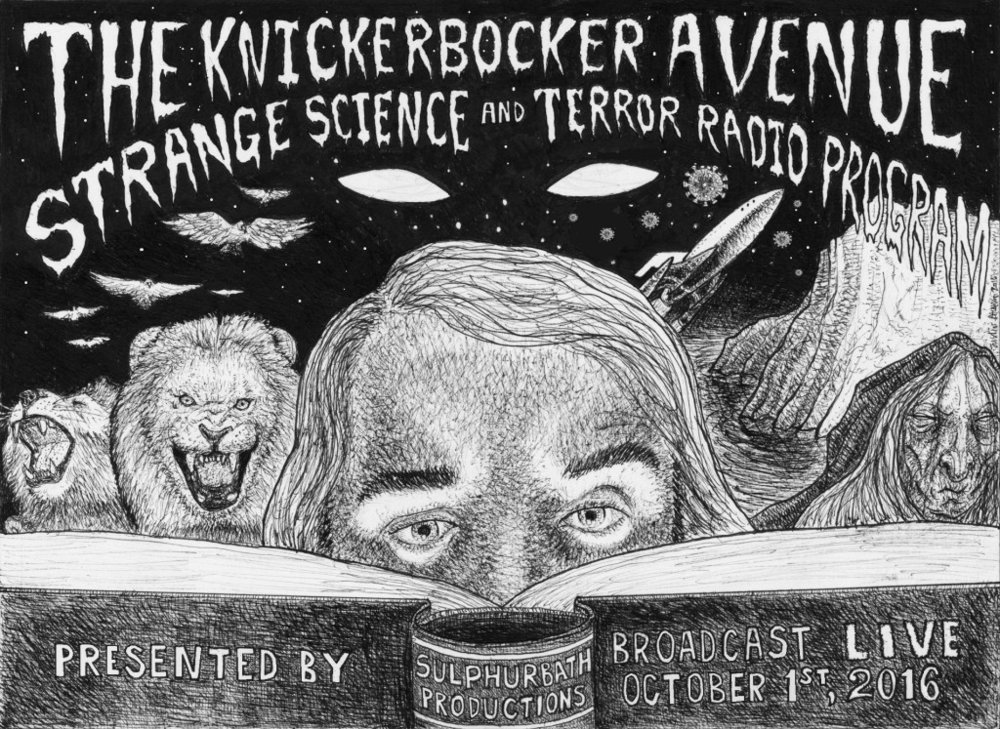 The Knickerbocker Avenue Strange Science and Terror Radio Program Live Show. Courtesy of Sulphurbath Productions.