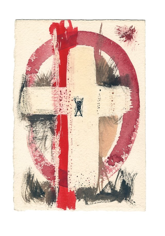 Alfonso Ossorio, Crucifix, date unknown © 2016 Ossorio Foundation, Southampton, NY. Reproduced with the permission of the Ossorio Foundation, Sally Vanasse and Nicole A. Vanasse