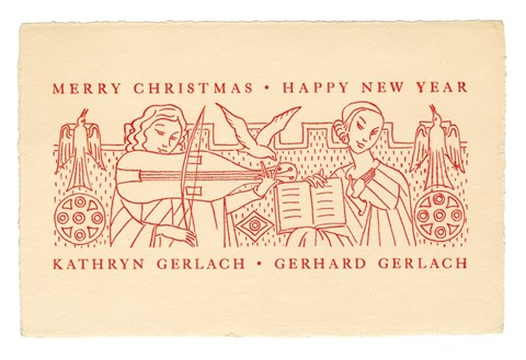Kathryn and Gerhard Gerlach, Merry Christmas, Happy New Year, date unknown